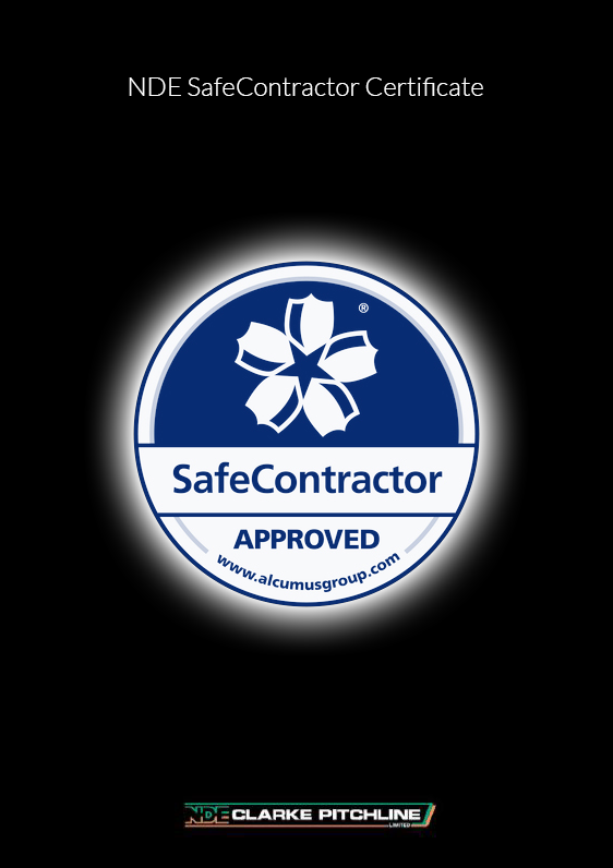 NDE's SafeContractor Certificate image